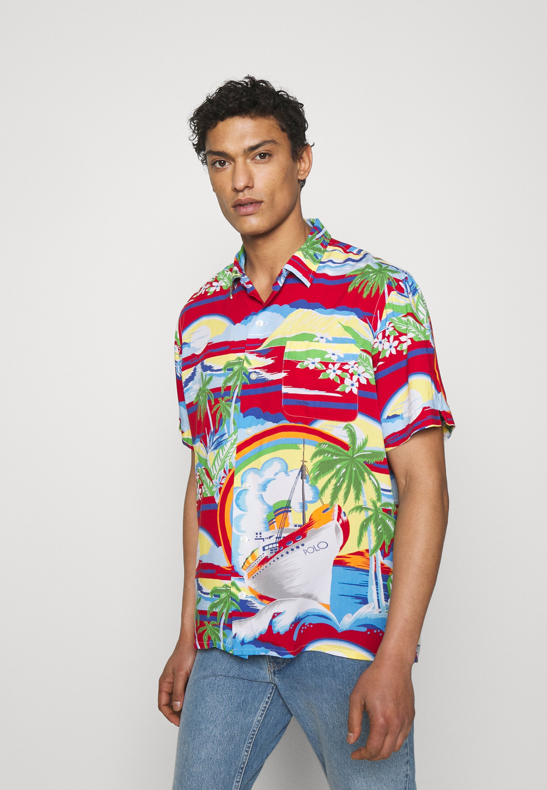 Homme CLASSIC FIT TROPICAL CAMP SHIRT - Chemise