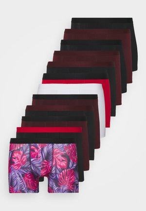 12 PACK - Pants - bordeaux/red/black