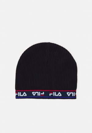 TAPED BEANIE UNISEX - Bonnet - black iris