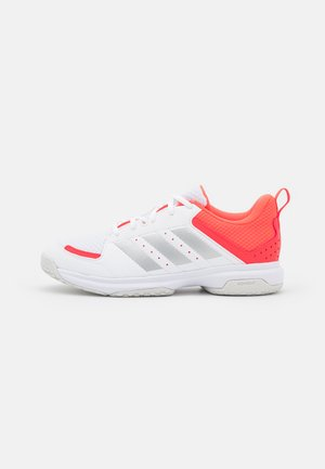 LIGRA 7 - Chaussures de volley - footwear white/acid yellow/solar red