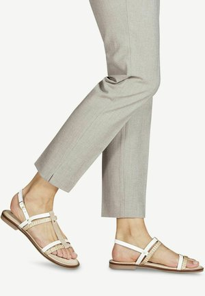 T-bar sandals - white comb