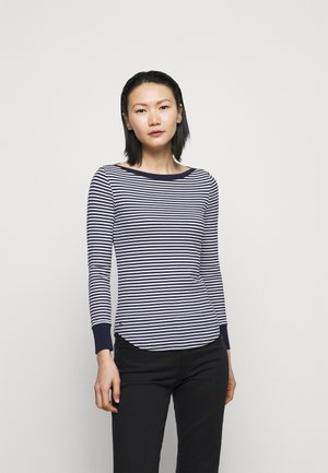 Long sleeved top - french navy/white