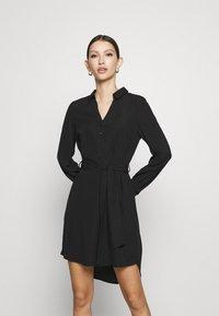 Vero Moda - VMBOA SHORT DRESS - Shirt dress - black - 0