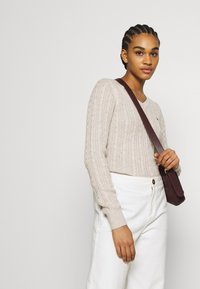 Hollister Co. - CABLE LAYER ON - Jumper - oatmeal - 4
