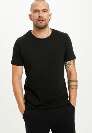 3PACK - Basic T-shirt - black/ grey/ white