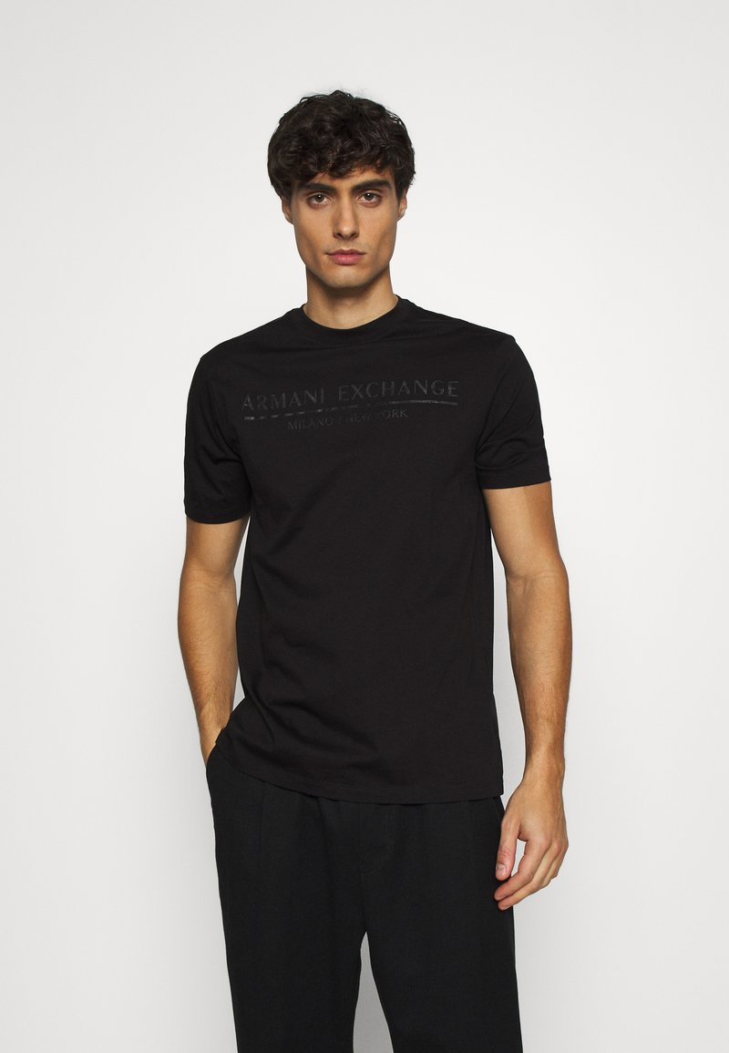 Armani Exchange - T-shirt med print - black