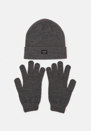 JACBEANIE GLOVE GIFTBOX SET - Guanti - grey melange