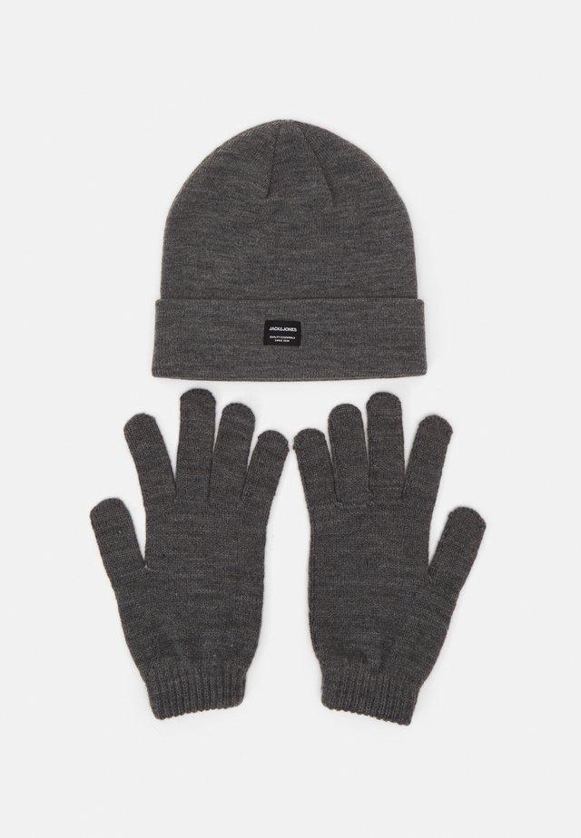 JACBEANIE GLOVE GIFTBOX SET - Gloves - grey melange