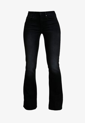 3301 HIGH FLARE - Flared Jeans - jet black