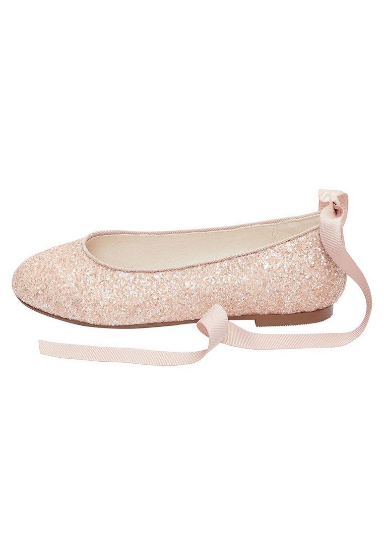 Next - PEWTER GLITTER TIE  - Ballet pumps - pink