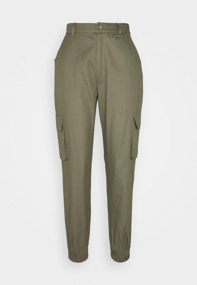 PLAIN TROUSER - Trousers - khaki