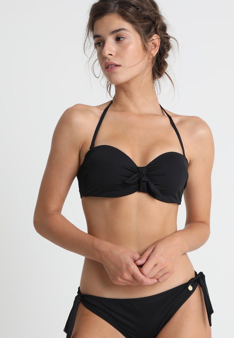 LASCANA - WIRE BANDEAU TOP LOLA - Bikinitop - black