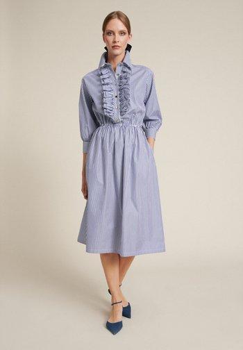 Shirt dress - var bianco/azzurro