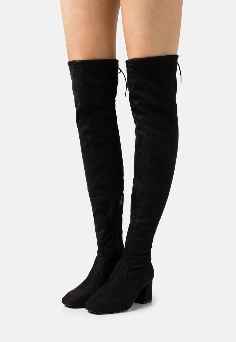 Miss Selfridge - OTIS BRICKS HIGH LEG VERSION - Over-the-knee boots - black