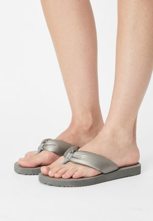 TEX TUBE SHIMMER - T-bar sandals - steel
