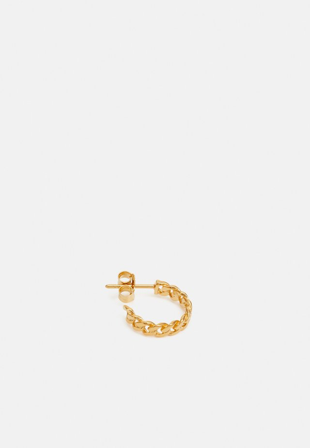 HOOP CHAIN SMALL - Orecchini - gold-coloured