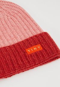 TINYCOTTONS - COLOR BLOCK BEANIE - Muts - pale pink/burgundy - 2