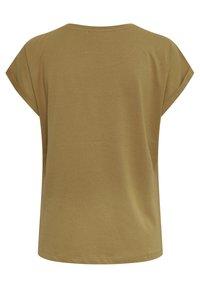 Cream - Print T-shirt - dull gold unique - 5