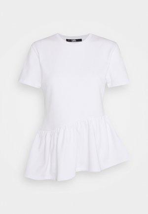 RUFFLE - T-Shirt print - white