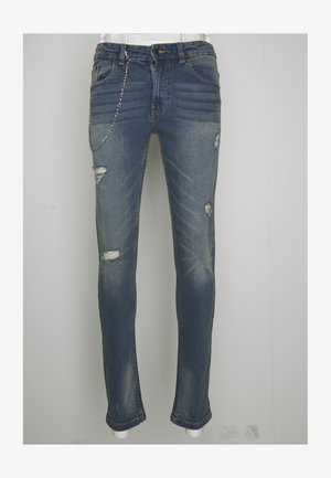 MR RED CHAIN DESTROY - Straight leg jeans - light blue vintage