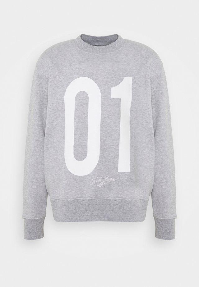 NUMBER CREW UNISEX - Sweatshirt - grey marl