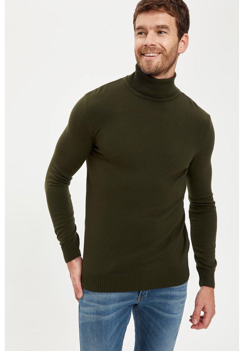 DeFacto - Stickad tröja - khaki