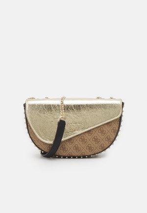 HANDBAG LOGO VISION FLAP - Across body bag - gold/multi
