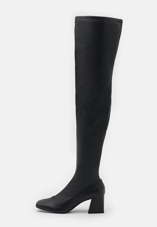 ARIANNE BOOT VEGAN - Overknee laarzen - black