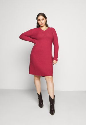 GARDENIA - Jumper dress - dark red