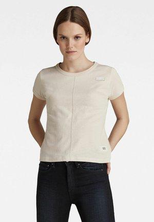 TOP STITCHING SLIM TEE - Basic T-shirt - bright liquid pink