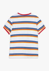Vans - STRIPE - T-shirt z nadrukiem - white/caribbean sea - 1