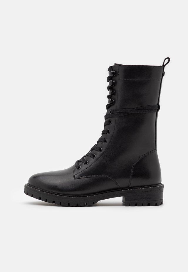DENA - Snørestøvler - black