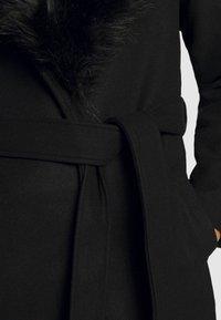 ONLY - ONLBERNA WRAP COAT - Klasický kabát - black - 6