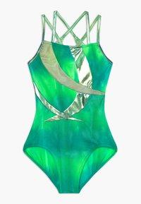 Capezio - GIRLS' GYMNASTICS DOUBLE STRAP LEOTARD - Danspakje - green/multi - 0