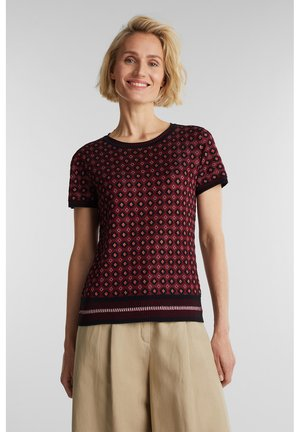 MIT MUSTER - Print T-shirt - bordeaux red