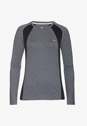 ALLY - Sportshirt - grey mel/black