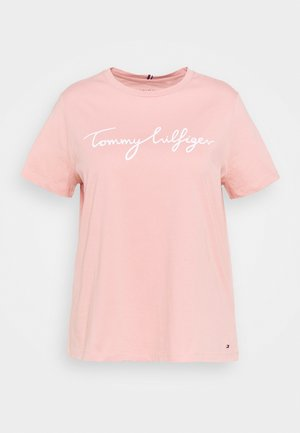 CREW NECK GRAPHIC TEE - T-shirt con stampa - soothing pink
