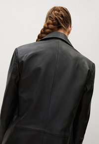Mango - Leather jacket - schwarz - 6