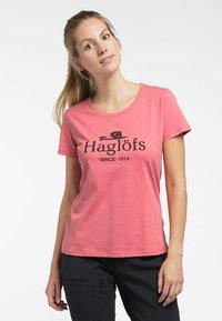 Haglöfs - MIRTH TEE - Print T-shirt - rusty pink/maroon red - 0