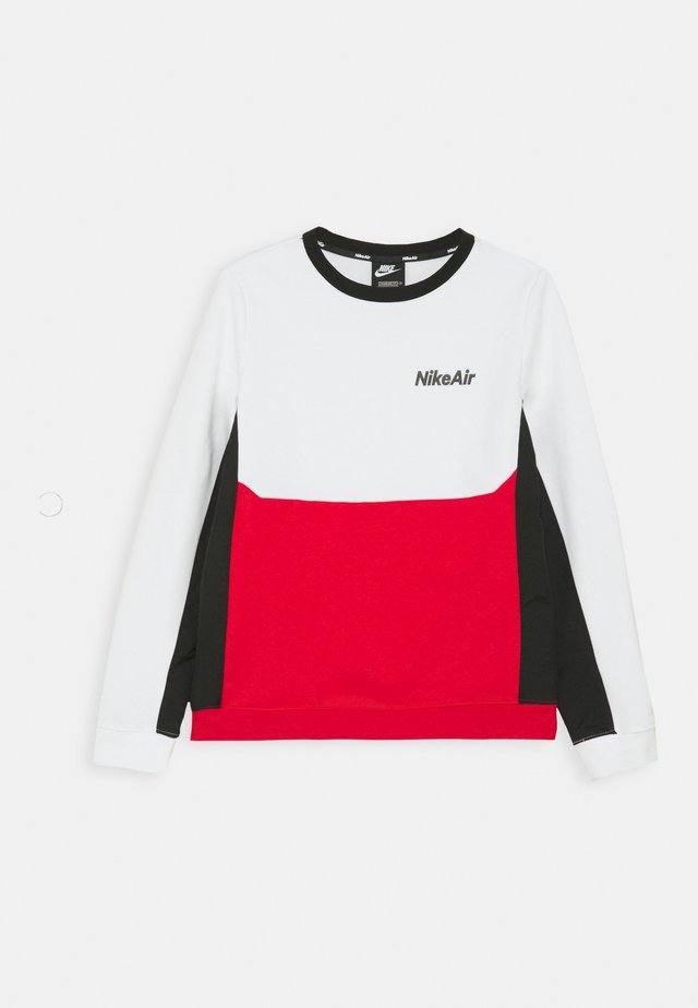 AIR CREW - Sweatshirt - white/university red/black