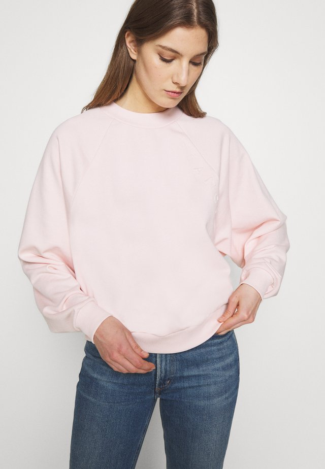 HELLA OVERSIZED EMBOSSED - Collegepaita - spring blush