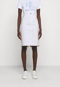 Lauren Ralph Lauren - BULL SKIRT - Jupe en jean - white wash - 0