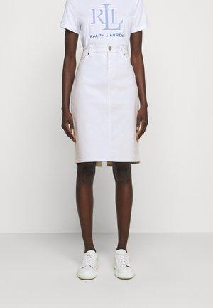 BULL SKIRT - Jeansrock - white wash