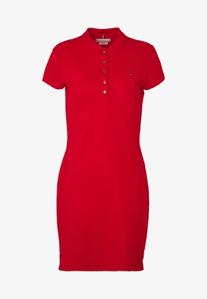 SLIM DRESS - Day dress - primary red