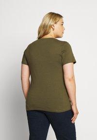 Even&Odd Curvy - Basic T-shirt - olive night - 2