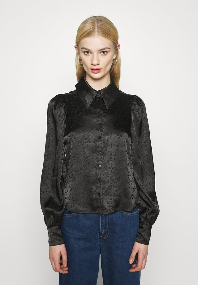 NALA BLOUSE - Button-down blouse - black