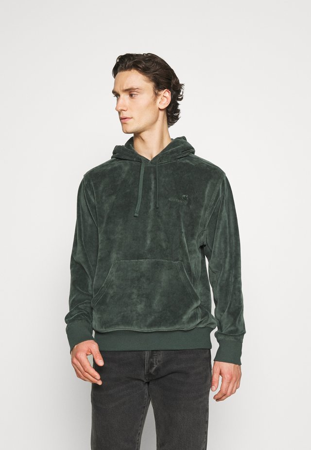 HOODED UNITED SCRIPT  - Felpa con cappuccio - dark teal