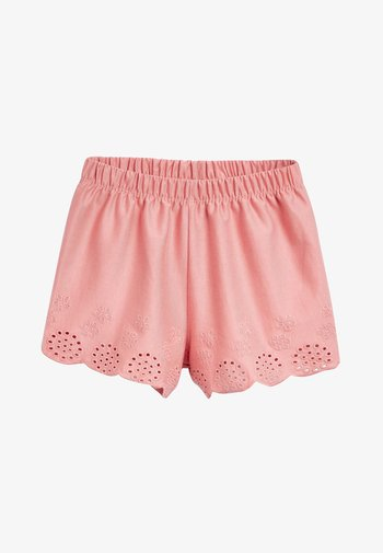 MULTI 3 PACK JERSEY BRODERIE SHORTS (3MTHS-8YRS) - Kraťasy - pink