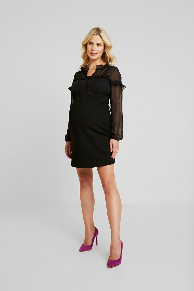 DRESS PONTE VOILE - Jersey dress - black