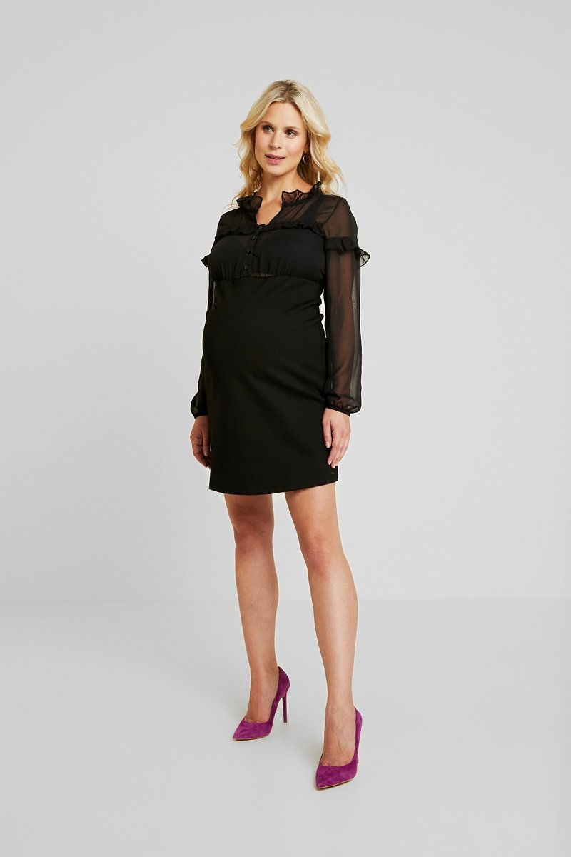 LOVE2WAIT - DRESS PONTE VOILE - Jerseykjoler - black